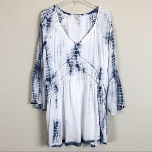 Amuse Society Bell Sleeve Mini Dress, M